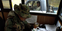 Passing through a drug checkpoint in Bolivia's mountains