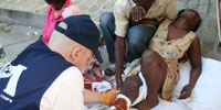 On the ground in Haiti with a medical team