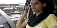 On the road in Mumbai with a Muslim female taxi driver